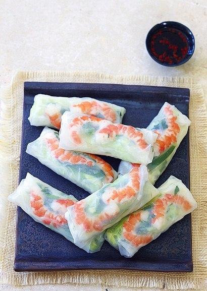 Роллы с рисовой бумагой в домашних условиях рецепт с фото